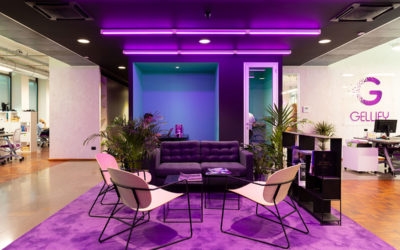 Il progetto degli uffici di Gellify su WOW : una sede Phygital pensata per i millenials