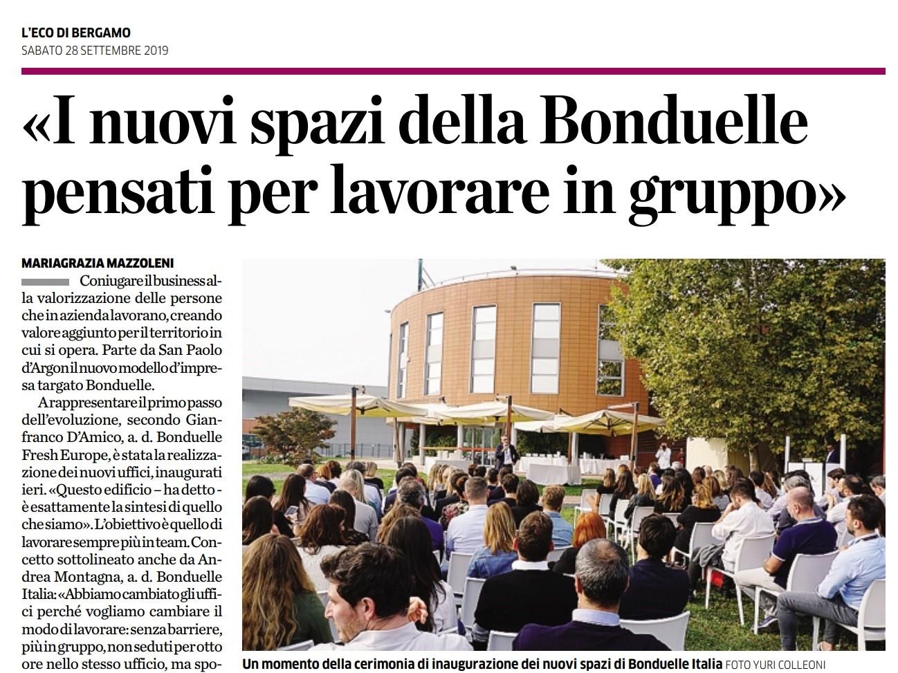 I nuovi spazi ufficio della Bonduelle pensati per lavorare in gruppo _ Eco di Bergamo