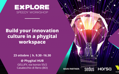 23 Ottobre 2019 #EXPLORE SPEEDY WORKSHOP